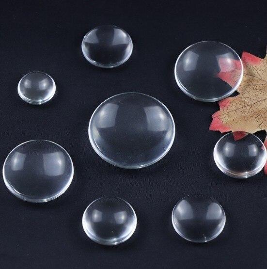 100 piezas. 20mm 25mm 30mm transparente plana clara redonda con cúpula de cristal cabujón insertos bandeja colgantes cubierta de manualidades DIY