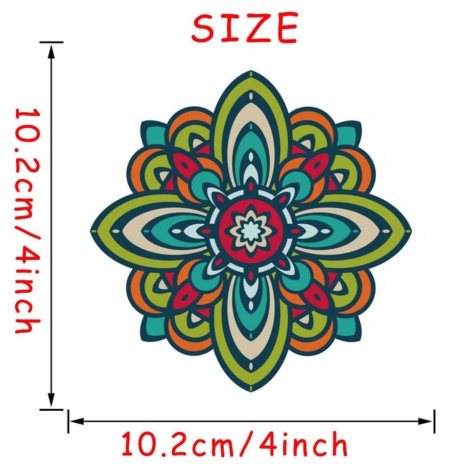 Mandala Flower Pattern Laptop Sticker Indian Style Art Vinyl