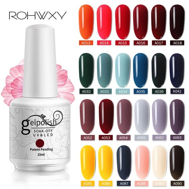 ROHWXY 15ml Uv Gel Nail Polish Top Uv Led Gel Nail Art Varnish Hybrid Soak Off Gel Lacquer Lucky Nail Paint Gel Polish Gellak