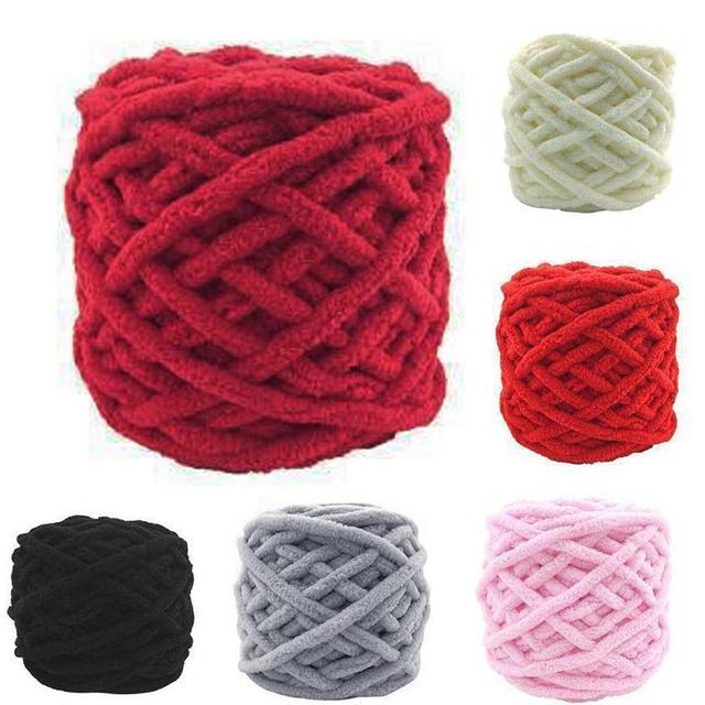 US $2 82 15% OFF Knitting Wool Yarn Soft Knitting Chunky Towelling Wool  Ball Skein Scarf Yarn Pure Colorful Knitting Wool Yarn Dropshipping-in Yarn