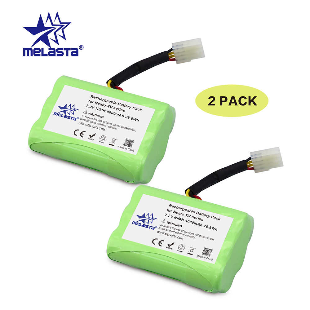 Melasta 2PCS 7.2V 4Ah NIMH Battery for Neato XV-21 XV-11 XV-14 XV-15 XV-12 XV-25 Neato XV Signature Pro robot vacuum cleaner