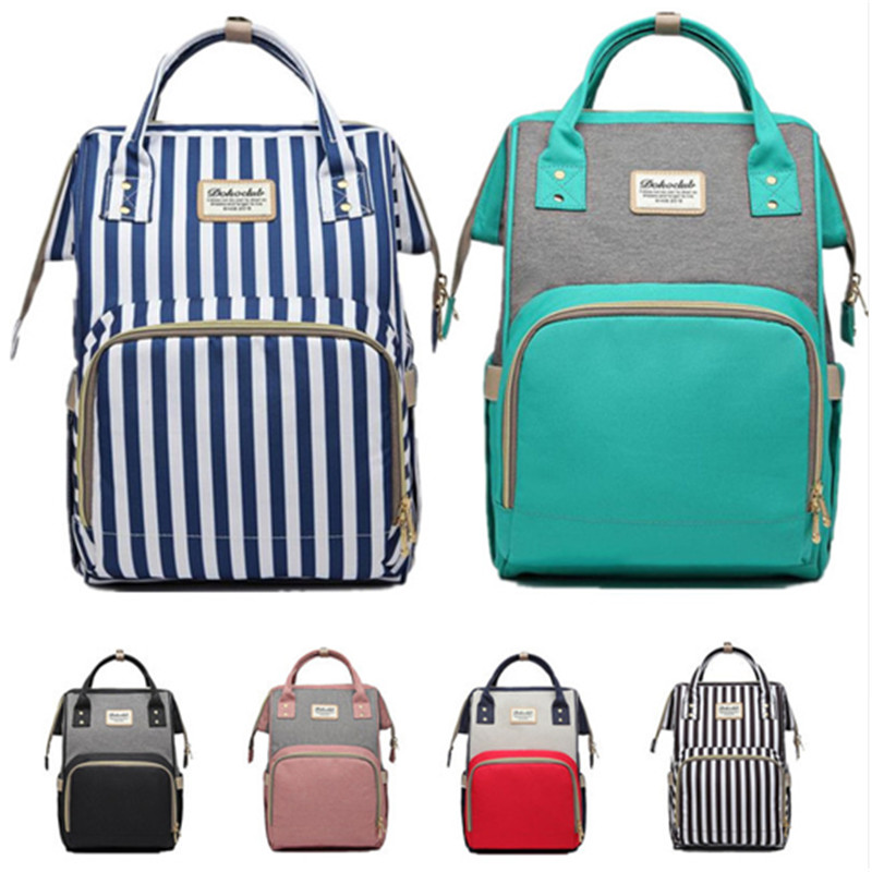 Dokoclub Diaper Bag For Baby Mummy Nursing Bag Large Capacity Waterproof Portable Travel Bag  Anti-thief Nappy Bag