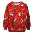 Christmas Women Casual Hoody Long Sleeve Sweatshirt Hoodies Print Snow Man Tracksuit Pullover Tops for Women