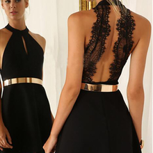Black Lace Short Cocktailkleid 2016 Elegante Halfter Ärmellose Kurze Brautkleider 2016 Sexy Mini A-linie Kurze Graduation Dresses