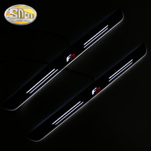 Customized 4PCS Moving LED Welcome Pedal Car Scuff Plate Pedal Threshold Door Sill Pathway Light For SEAT LEON ARONA ATECA FR