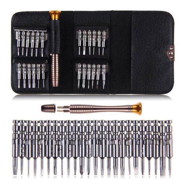 25 en 1 tournevis Kit de premiers soins r paration outils d ouverture Pentalobe Torx Phillips