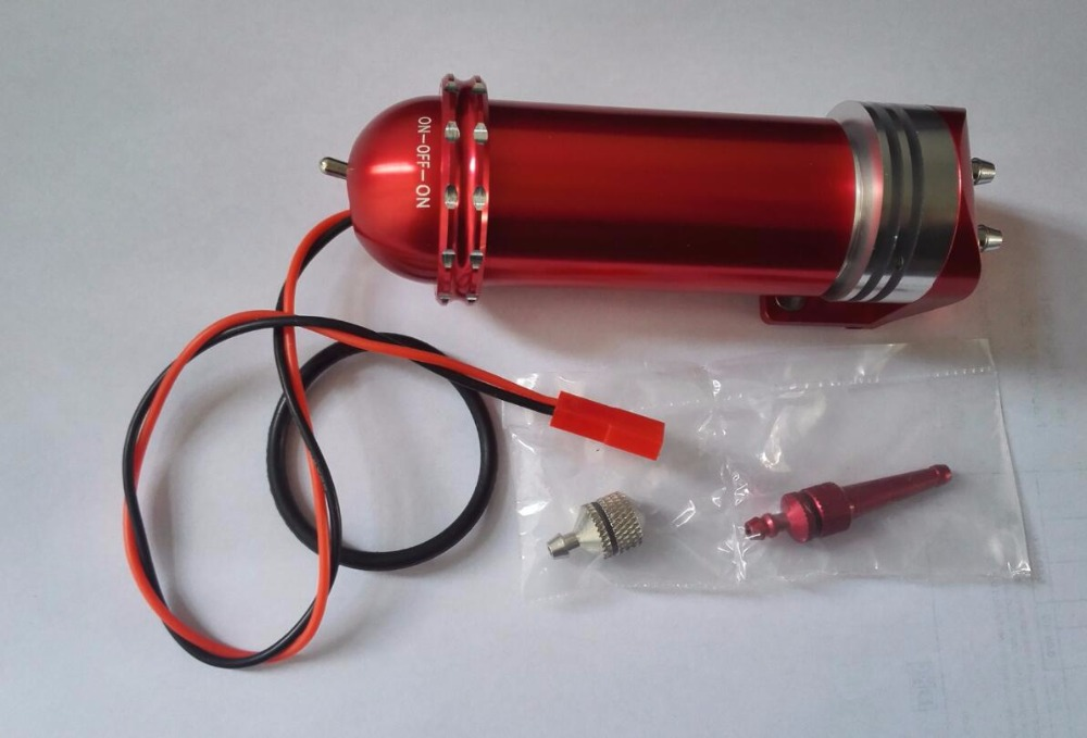 CNC Processed Metal Electric Fuel Pump 7.2-12V For Gas and Nitro Engine for RC Airplane dla180 cnc processed gasoline engine petrol engine 180cc for gas airplane with double cylinders