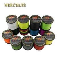 Hercules Braid Angelschnur 4 Stränge Starke 500M PE Meer Karpfen Angelschnur Tresse Peche Angeln 6LB-100LB 13 Farben angelschnur