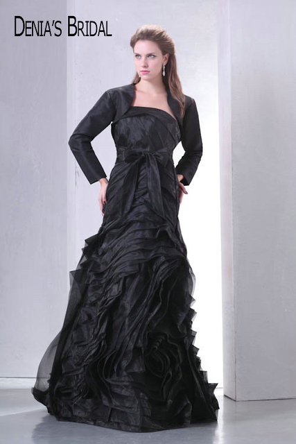 Aliexpress Buy 2017 Actual Images Black Strapless A Line