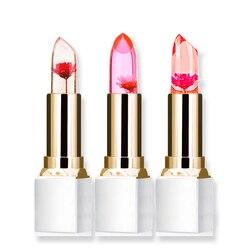 Wholesale Transparent Natural Red Lip Stick Temperature Color Change Long-lasting Moisturizer Flower Jelly Lipsticks Makeup