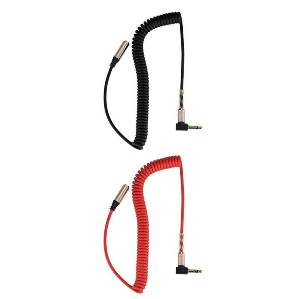 3,5 мм разъем для мужчин и женщин кабель для наушников аудио Удлинительный кабель Выдвижной гибкий пружинный шнур портативный аудио кабель