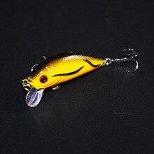 YTQHXY topwater Fishing Lure 5cm 4g Artificial Hard Bait Wobbler Spinner Japan Mini Crankbait Carp fishing YE-204