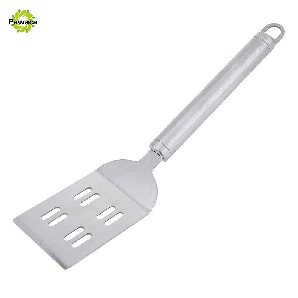 Non Slip Shovel Kitchen Tools Stainless Steel BBQ Scraper Beef Steak  Teppanyaki Turner Fried Shovel