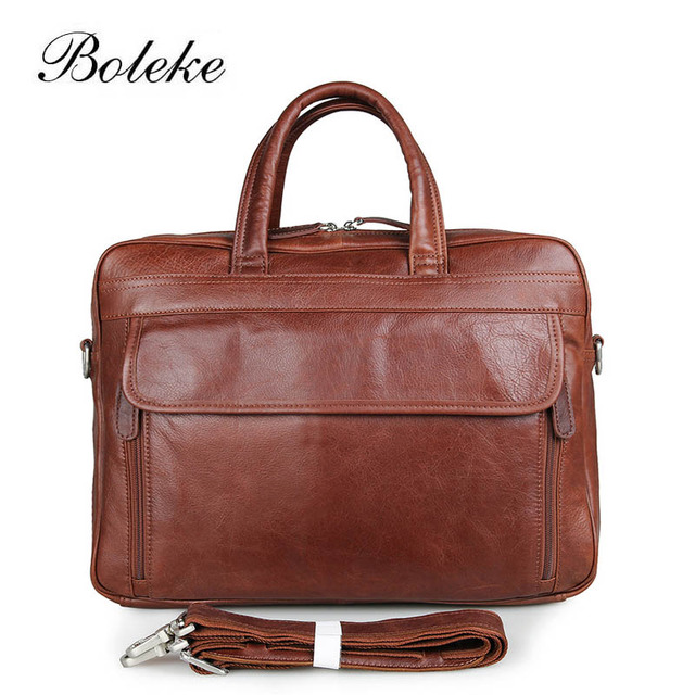 Men Genuine Leather Briefcase Messenger Bag 15 Inch Laptop Business Briefcase  Vintage Handmade DurableTote Bag Handbag e9edf9bcd05d0