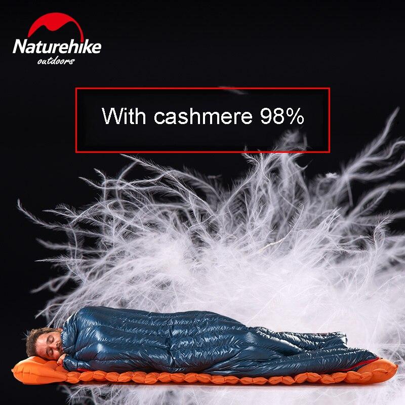Naturetrekking 570g ultra-léger imperméable à l'eau en duvet d'oie blanche sac de couchage enveloppe Type paresseux sac Camping sacs de couchage NH17Y010-R - 5