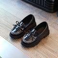 Kids Shoes Chaussure Enfant 2017 Новая Весна Кожа Принцесса Девушки Shoes Кисточкой Джентльмен Моды Растет Мальчики Shoes Размер 27-31