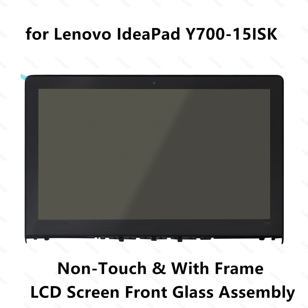 15 6 For Lenovo Ideapad Y700 15ISK Front Glass 4K UHD FHD LCD Screen Display Panel