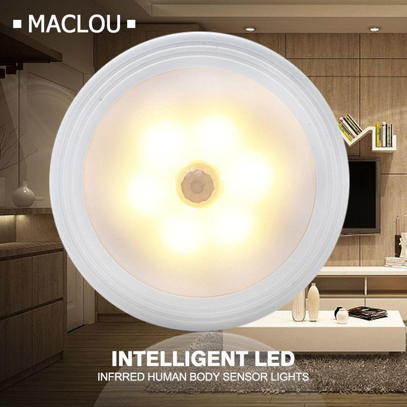 AAA Battery Powered Magnetic Infrared IR Motion Sensor LED Night Light Auto On/Off Bedside Hallway Toilet Emergency Wall Lamp цена 2017