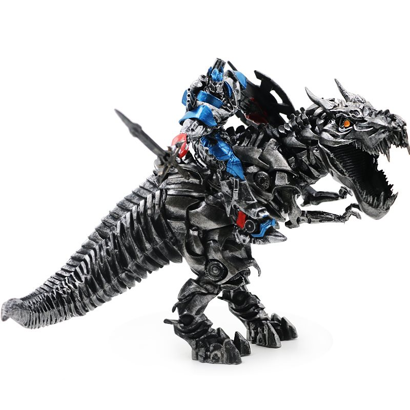 Deformation on Movie 4 Tyrannosaurus Rex Dinobots statue Grimlock Robot Dinosaur Model Action Figure Gift static set up toys