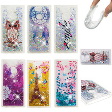 LUCKBUY Glitter Stars Dynamic Liquid Quicksand Case For Coque Sony Xperia XA2 Soft TPU Back Cover xperia