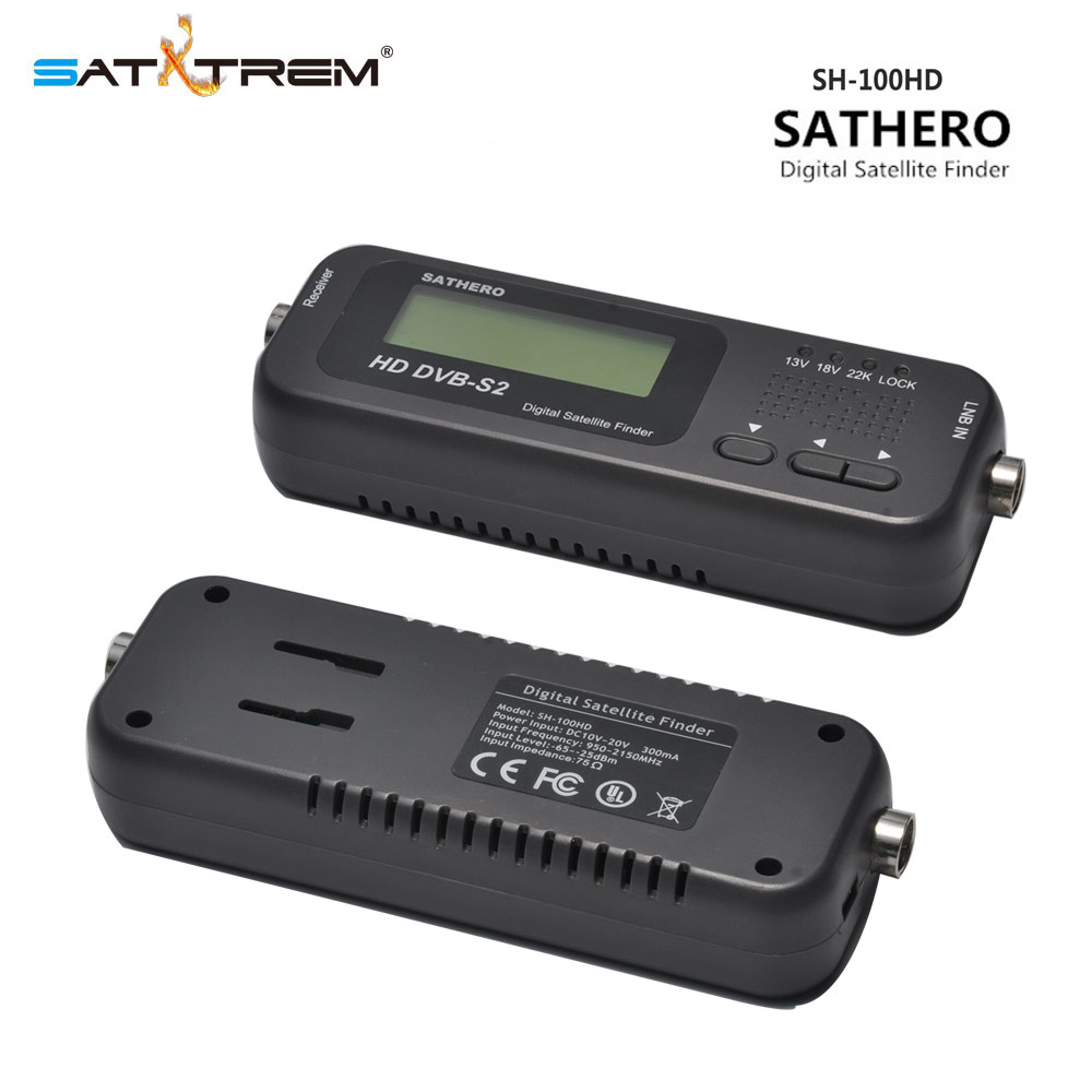 Satxtrem Mini Sathero SH-100HD Digital Pocket Satellite Finder Satellite Receiver DVB-S/S2 HD Signal Meter USB 2.0 Sat Finder original sathero sh 800hd dvb s2 800hd digital satellite finder meter hd output sat finder hd with spectrum analyzer