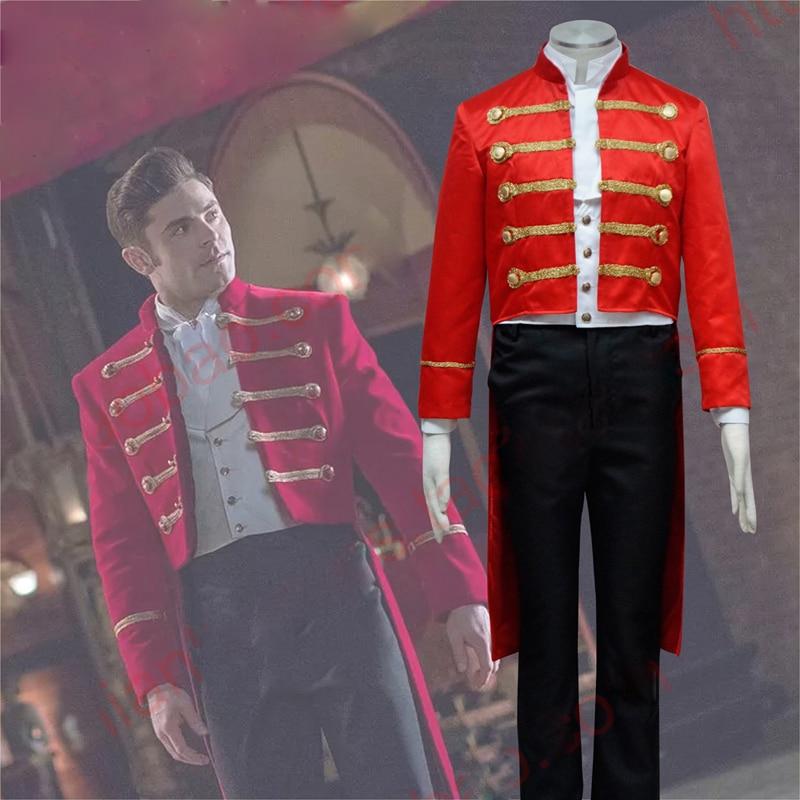 Barnum circus tuxedo overcoat cosplay x/'mas gift costume Greatest Showman P T