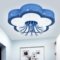 Iron Flower Ceiling Lamp Princess Room Romantic Warm LED Eye Lamp 2017 New Girl Bedroom Lamp