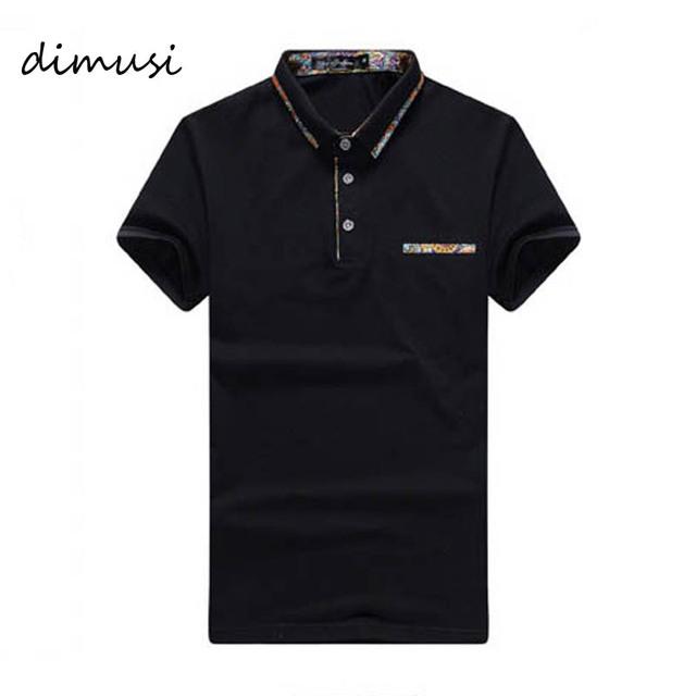 Dimusi 2017 hombres del verano camisa de polo polos de algodón de manga corta carta de negocios masculino mens slim fit tees marca ropa 3xl, ya579
