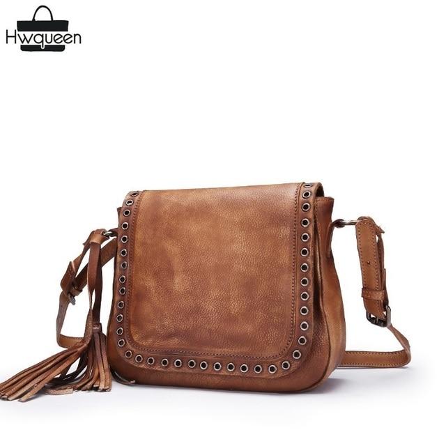 8bd0b7e2c21e Vintage Fringe Tassel Designer Girls Shoulder Bag Genuine Cow Leather  Women s Small Hollow Bag Cowhide Ladies Crossbody Bag