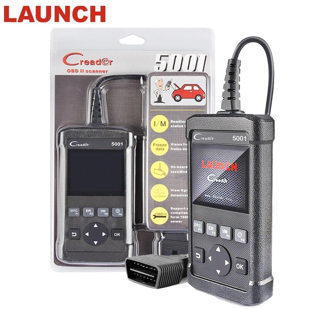 ODB2 OBDII Automobiles scanner LANCEMENT Creader 5001 Support Multi-langue Pour VW/BMW/BENZ full OBD2/système EOBD auto Outil de diagnostic