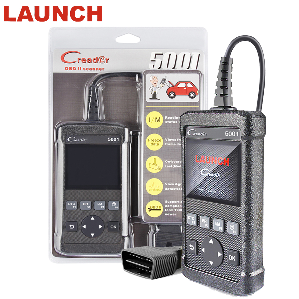 ODB2 OBDII Autos scanner LAUNCH Creader 5001 Support Multi-language For VW/BMW/ BENZ full OBD2/EOBD system auto diagnostic Tool цены