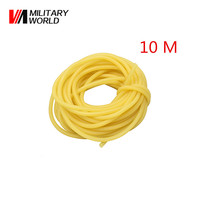 Hunting Shooting 10m Natural Latex Slingshots Rubber Tube Bow Rubber Band Catapult Elastic Part Fitness Bungee