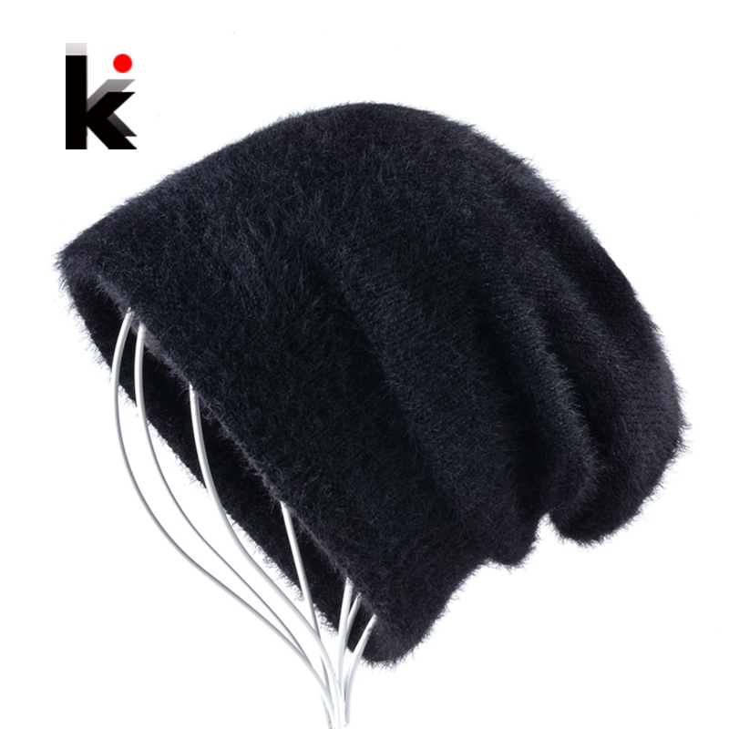 Winer Unisex Bonnets Hat For Men Knitted Wool Solid   Skullies     Beanie   Fluffy Cap Women Add Velvet Thick Knit   Beanies   Gorros Touca