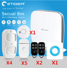 Heißer V2 Etiger Secual box Wi-Fi/GSM Alarmanlage Hause Alarmanlage Mit App Steuer