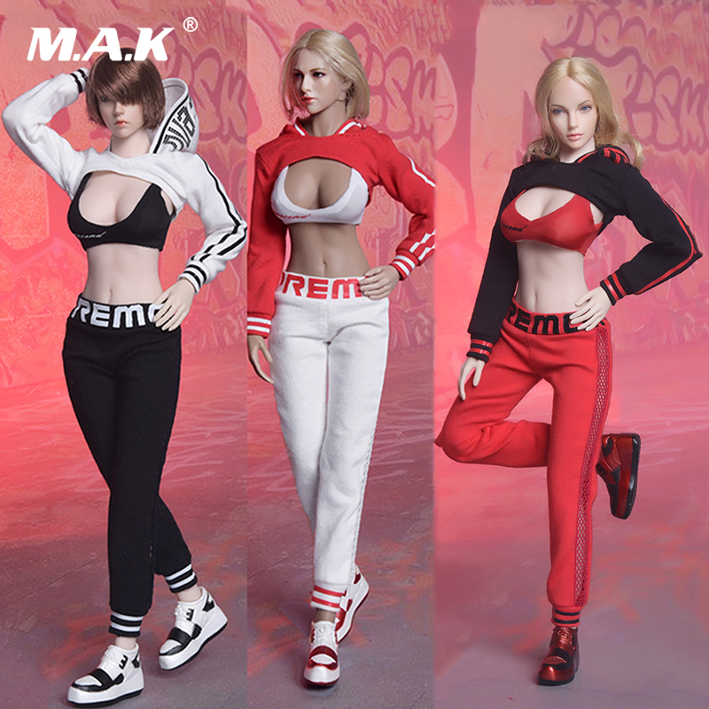 Sexy Fashion Fire Girl Toys 1/6 FG059 Street Dance Suit Clothing Set With Shoes For 12