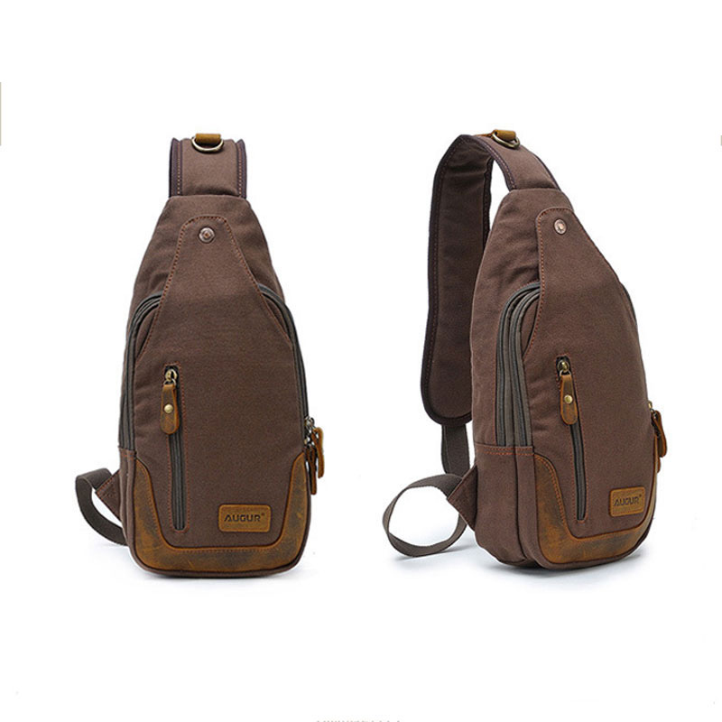 Men's Canvas Bag Male Chest Pack Travel Messenger Shoulder Bags Casual Travel Crossbody Bags Military Satchel Bag Retro Vintage casual travel casual chest bags fashion vintage men messenger bags canvas male small retro shoulder bag