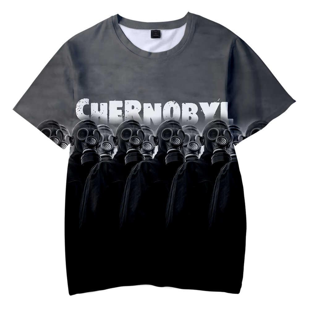 2019 Новая летняя детская забавная Футболка мужская футболка с 3D-принтом, футболка с рисунком Чернобыля топы с короткими рукавами для мальчиков и девочек, Азиатский Размер, круглый воротник