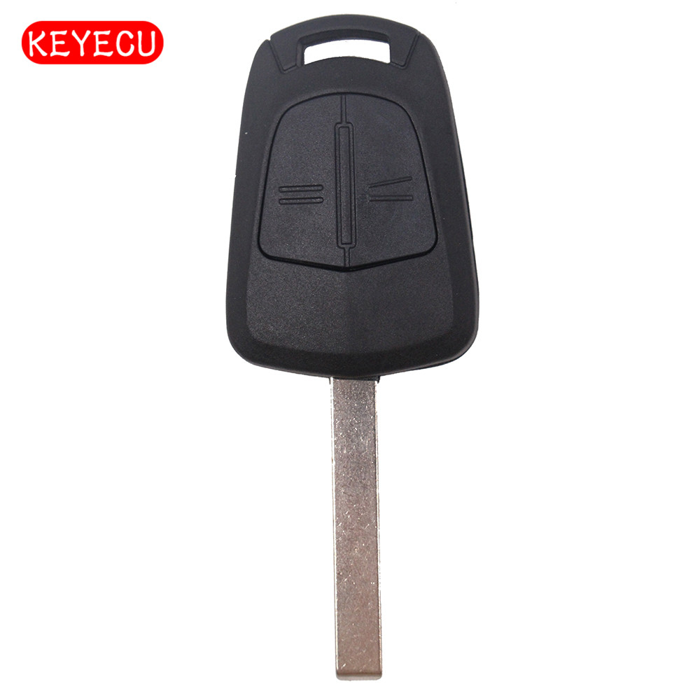 Keyecu Remote Car Key Shell Case Fob 2 Button for Opel Vauxhall Astra H,Zafira B,Corsa D HU100 Blade