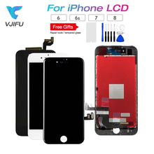 цены Grade AAA LCD For iPhone 6 6s 7 8  LCD Touch Screen Display Digitizer Assembly Replacement Black White pantalla Repair parts