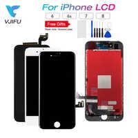 Grado AAA LCD para iPhone 6 6s 7 8 LCD pantalla táctil digitalizador montaje reemplazo negro blanco pantalla piezas de reparación