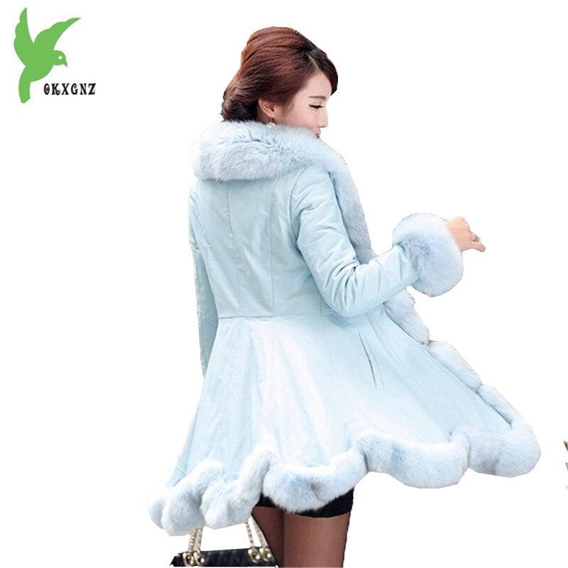 Boutique Grande Artificiel Fourrure Mode Blue Tempérament light Grand Veste Col Renard Taille Femmes Beige De Hiver En Manteau Imitation Nouvelle Cuir Okxgnz84 rfwzq6nr50