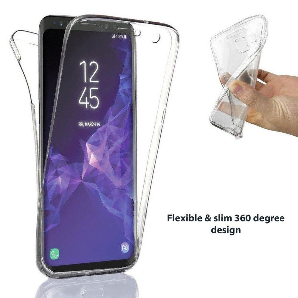 360 градусов Ударопрочный силиконовый чехол для Samsung Galaxy S8 S9 S7 Capa Передняя и задняя крышка для A5 2017 J5 J3 J7 S6 A3