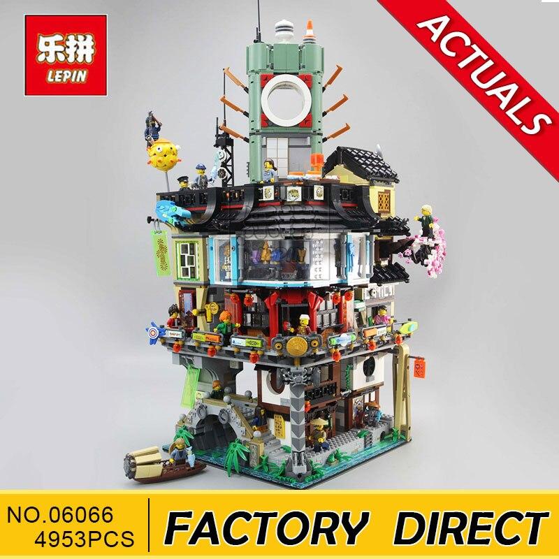 Lepin 06066 4953 pz Ninja Grande Creatore Città Modello di Costruzione Blocchi di Costruzione Modulare Adolescenti Giocattoli Dei Mattoni Compatibile 70620