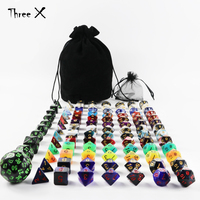 101pcs Polyhedral Dice Plus Pouch,13 Complete Sets of D4 D6 D8 D10 D10% D12 D20 ,1 Set of D4 D60 for RPG DND Boardgame