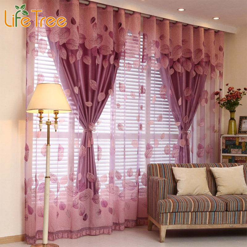 1 Pc Curtain And 1 Pc Tulle Peony Luxury Window Curtains: Luxury Window Curtains Set For Living Room Sheer Drapes