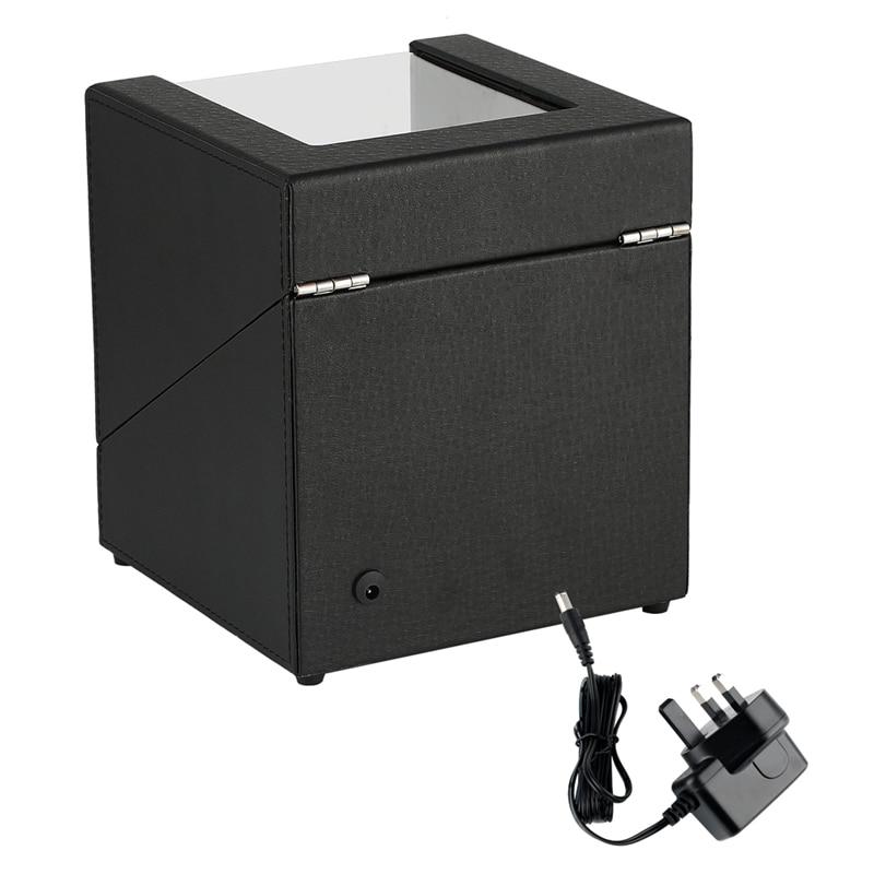 Automatic Watch Winder Case Holder Mechanical Watch Double Winding Display Organizer Luxury Motor Shaker PU Leather Rotating Box