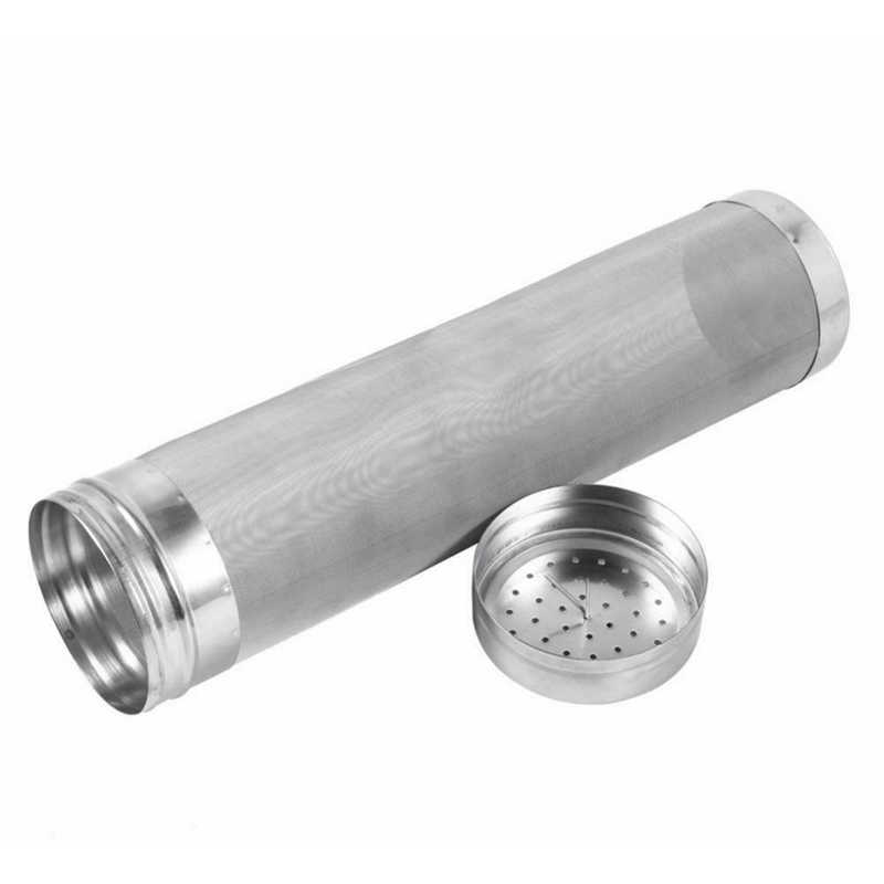 300 Micron Stainless Steel Buatan Sendiri Brew Bir Bir Hop Mesh Filter Saringan dengan Hook Pembuatan Bir Hop Spider Mesh Filter Saringan