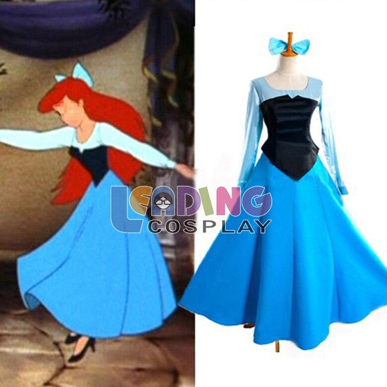 Petite sirene robe bleu
