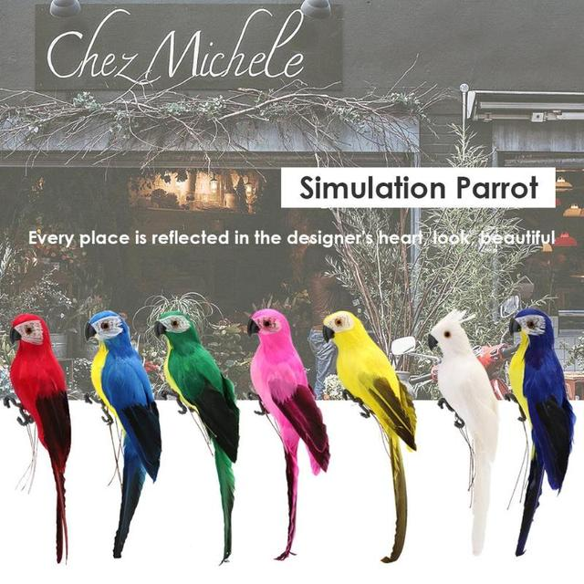 Foam Feather Artificial Parrot Fake Parrot Imitation Bird Model Simulation Animal Bird Garden Decoration DIY Party Home Ornament 4