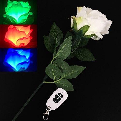 Télécommande Rose clair trois couleurs, tours de magie accessoires de Gimmick magiciens professionnels scène Bar Illusions de mariage mentalisme